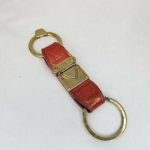 Authentic Louis Vuitton Red Gold Vernis Charm Key